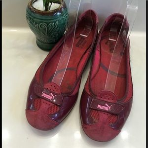 ZANDY Purple Mesh Patent/Suede Leather Flats